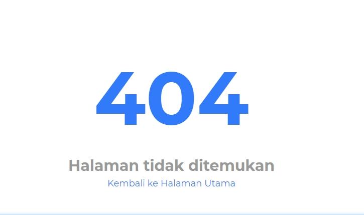 Penyebab dan Cara Mengatasi Error 404 Not Found