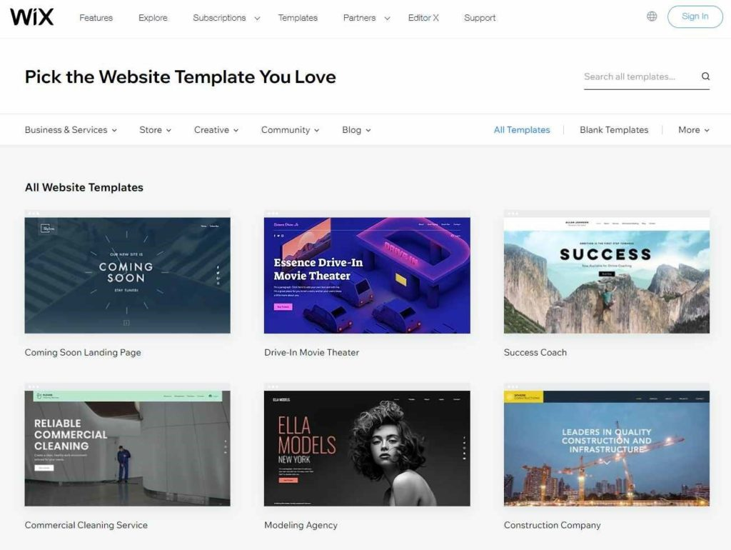 website builder gratis